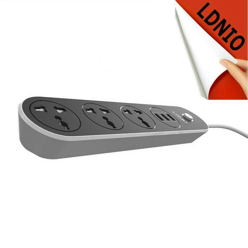 3 USB Smart Charge Ports 3.1A 1A 2A et Universel AC mur Socket Power Strip Extension Adaptateur Avec Interrupteur Pour USB Dispositif