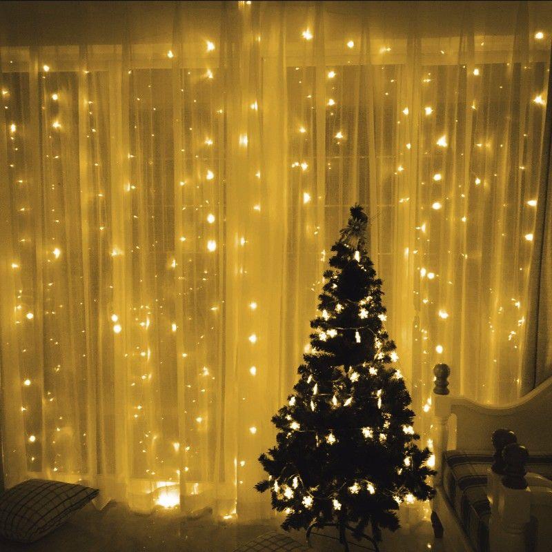 3 M * 2 M 224 LED Luces de la Secuencia del Carámbano Luces de Navidad Al Aire Libre de Iluminación Hogar Para Wedding/Party/cortina/Decoración Del Jardín 110 V/220 V