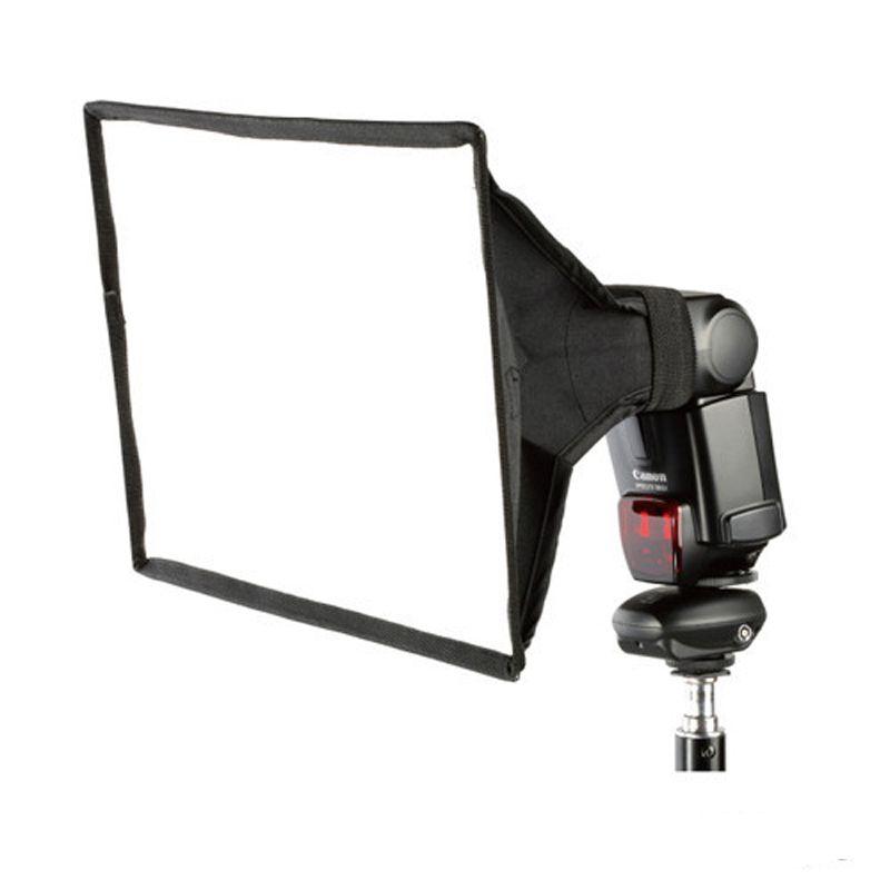 30X20cm Universal Flash Square Softbox Diffuser for Canon Nikon Sony Pentax Metz Yongnuo Olympus Speedlite