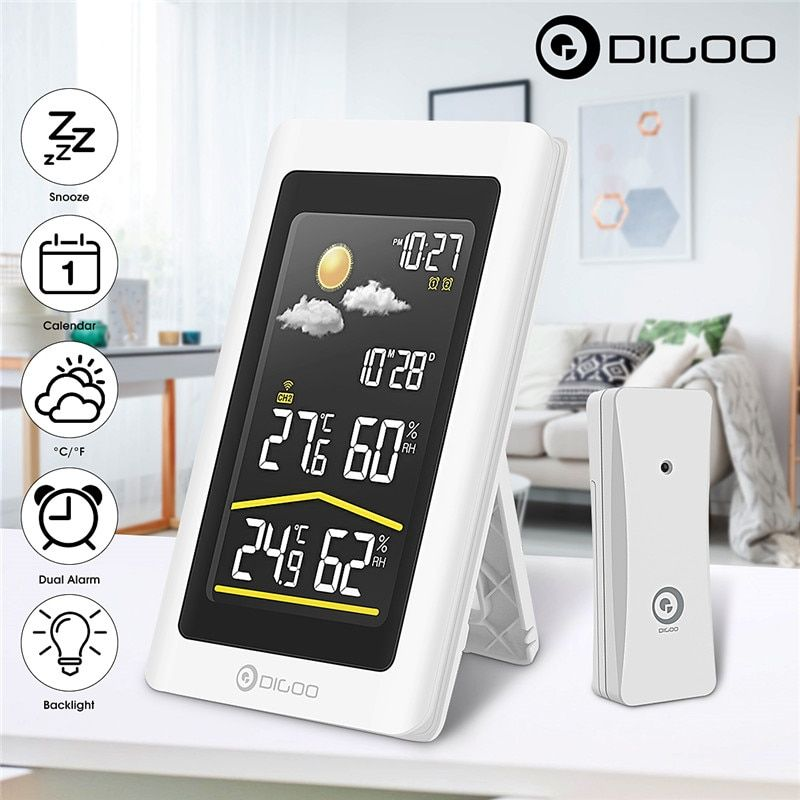 Digoo DG-TH11300 Smart Home Outdoor Weather Station Hygrometer Thermometer Digital Forecast Sensor Humidity Temperature Sensor