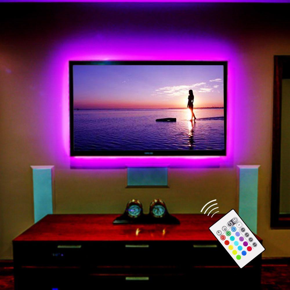 RGB LED TV rétro-éclairage USB alimenté LED bande de télévision lumière 5050 Home cinéma éclairage pour 32