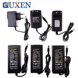 GUXEN 12V LED Strip Power Supply Adapter EU/US/UK/AU Plug For AC110-220V to DC12V 1A/2A/3A/5A/6A/8A/10A Transformer