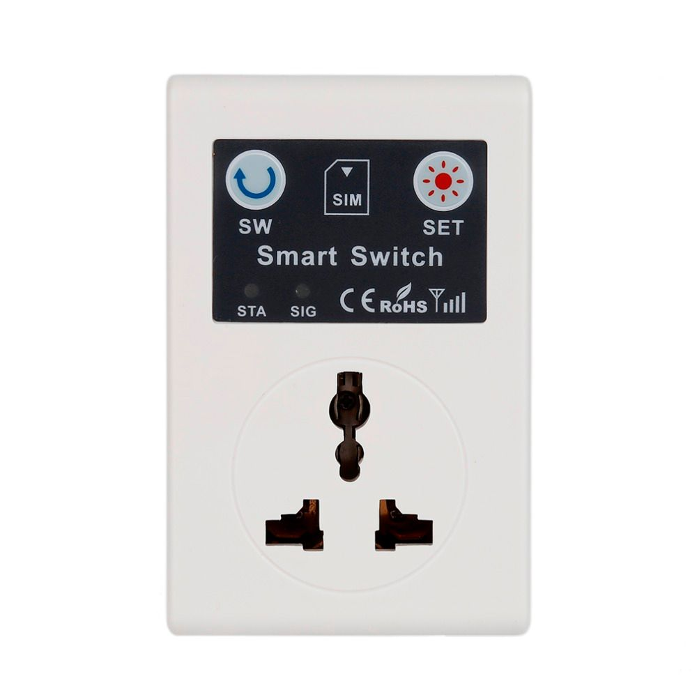 wireless clever gsm outlet smart switch 220v remote power switch sockets and switches EU Plug Phone RC Remote Control Socket