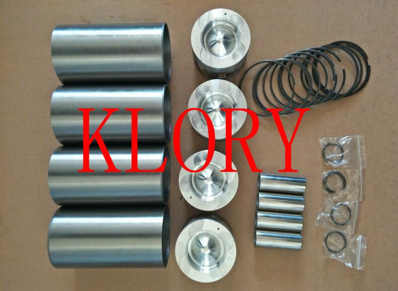 Four matching (Cylinder Liner Piston ring piston pin) for great wall haval H5 H6 wingle 4D20 engine