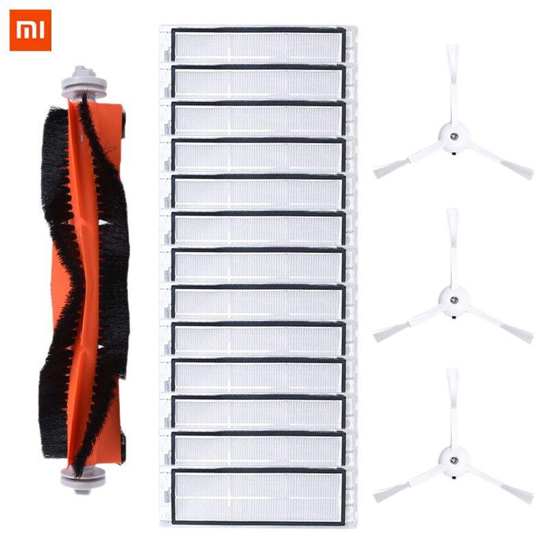17PCS Mi Roborock Vacuum Cleaner Accessories For Mi Roborock Vacuum Cleaner Parts Main Brush *1 Side Brush*3 Filter*13