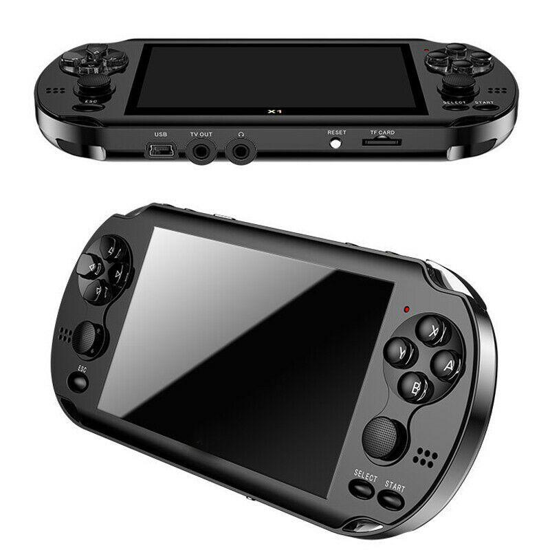 32/64/128 Bit 5 LCD X9 plus Double rocker 16G portable rétro Console de jeu vidéo MP5 TF carte pour GBA/NES 10000 jeux