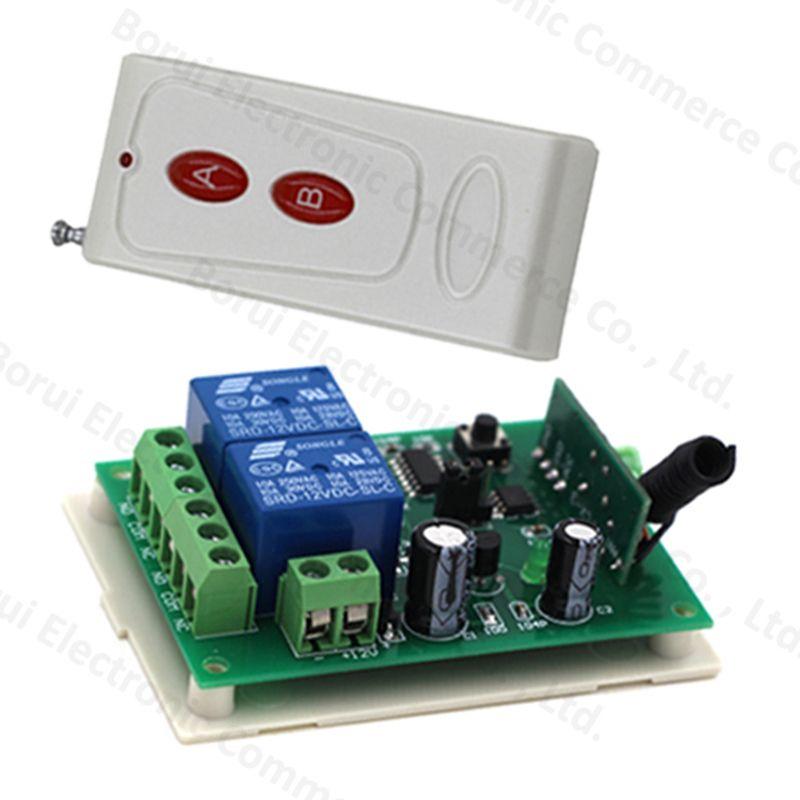 DC 12V 2CH RF remote control switch wireless ON/OFF Switch Remote plug 315/433MHZ