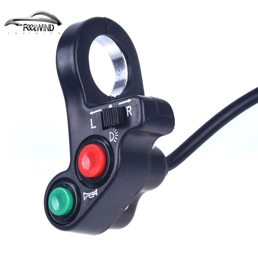 7/8 inch Motorcycle Scooter Dirt ATV Quad Switch Horn Turn Signals On/Off Horn Light Handlebar Bike Motorcycle Scooter Switch
