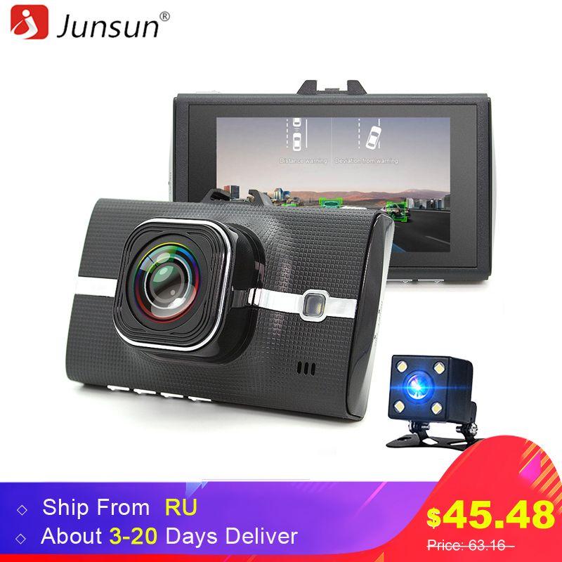 Junsun Car DVR Camera LDWS ADAS Registrar Dual Lens Support Night Vision Video Recording Full HD 1080P car dvrs dashcam