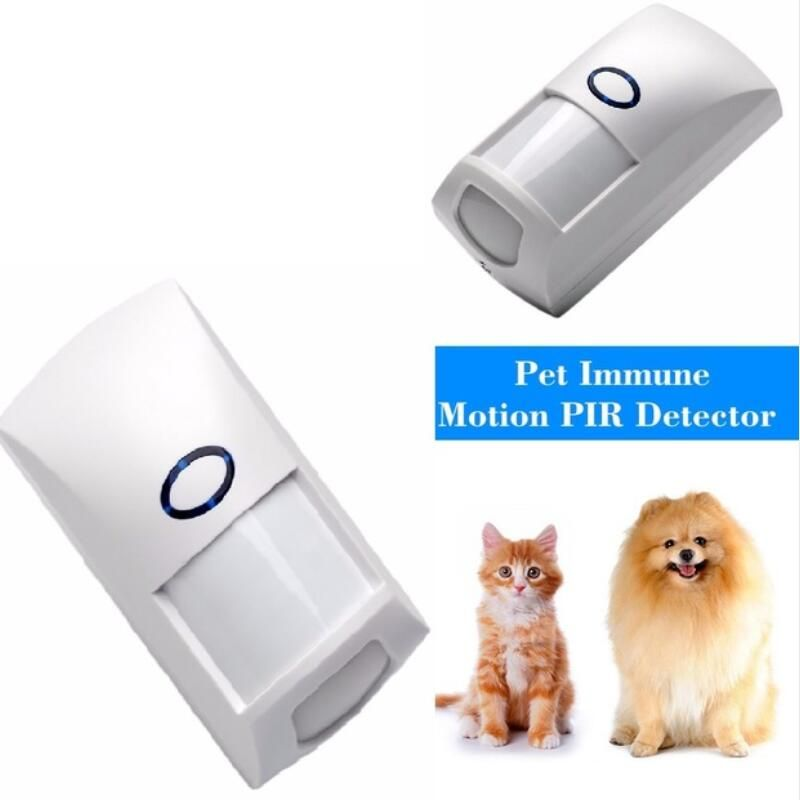 433 MHz 1527 Code Pet Immune PIR Motion Detector Sensor With White Color for Home Security for our G5S Alarm System