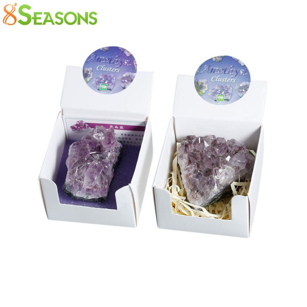 8SEASONS Created Gem Stone Birthstone February Irregular Purple No Hole About 5.6cm x 4.8cm, 1 Box(Approx 1Piece)