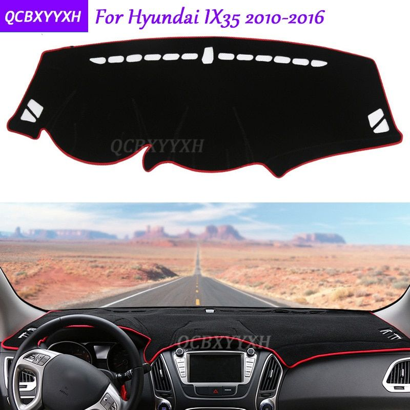 For Hyundai IX35 2010-2016 Dashboard Mat Protective Interior Photophobism Pad Shade Cushion Car Styling Auto Accessories
