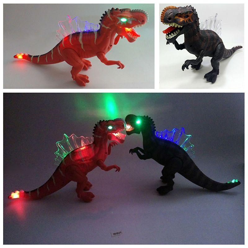 43*11*24 cm electrónica intermitente dinosaurio animales frescos Juguetes sonando parpadeante movimiento electrónico dinosaurio Juguetes para cumpleaños regalo