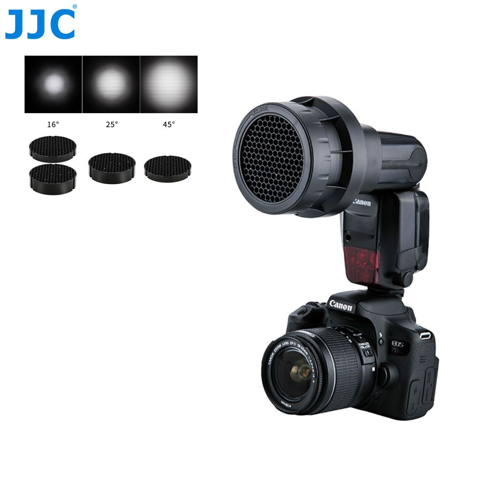 JJC 3-in-1 Flashes Honeycomb Grid Photographic Speedlight Photo Studio Accessories for CANON YONGNUO Flash Light