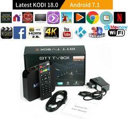 TTVBOX MX Pro 4 K TV Box última KODI 18,0 Android versión 7,1 1 GB 8 GB RK3229 4 K quad Core Android TV Box Media Player