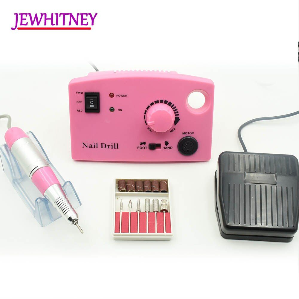 Jewhitey 35000 RPM Electric Nail Drill Machine File Nail Milling Cutter Manicure Pedicure Drill Set Nail Drill Polish Tools Kits
