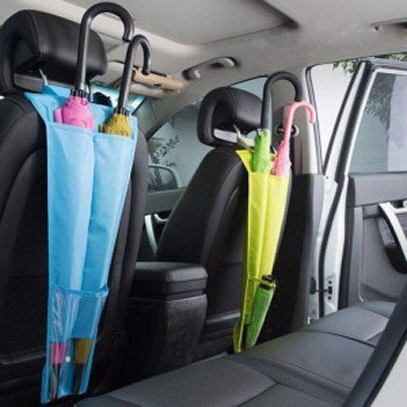 Car Seat Back Umbrella Storage Holder Cover Backseat Hanging Bags Organizer Automatic Umbrella Stand Case Accessories