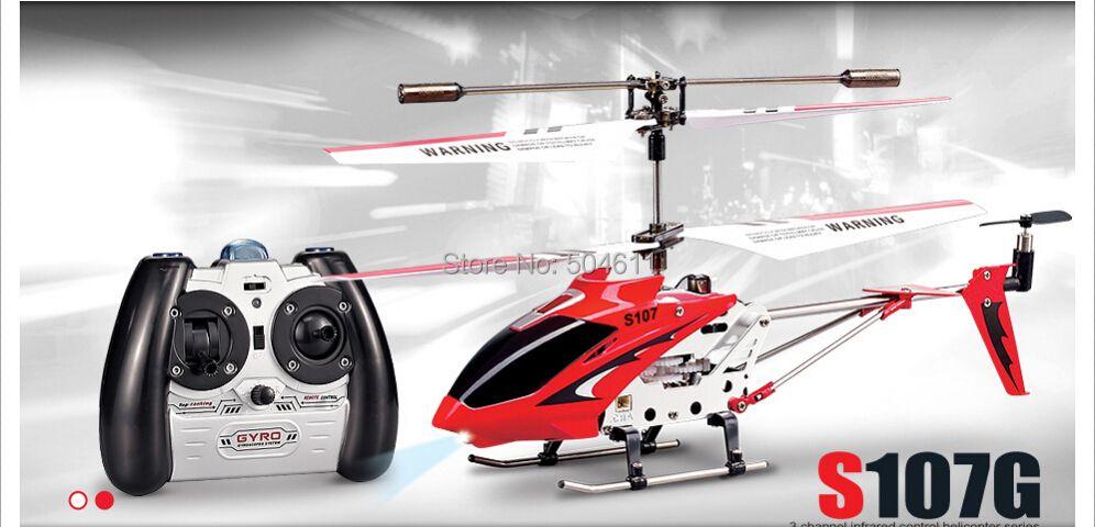 Syma S107G IR 3 canaux RC télécommande à une lame modèle hélicoptère jouets RTF