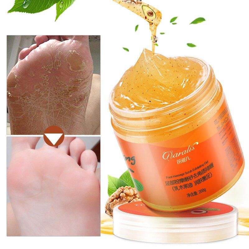 200G Shea Butter Foot Massage Scrub Cream Anti Wrinkle Whitening Exfoliating Repair Rough Smooth Moisturizing for Feet Skin Care