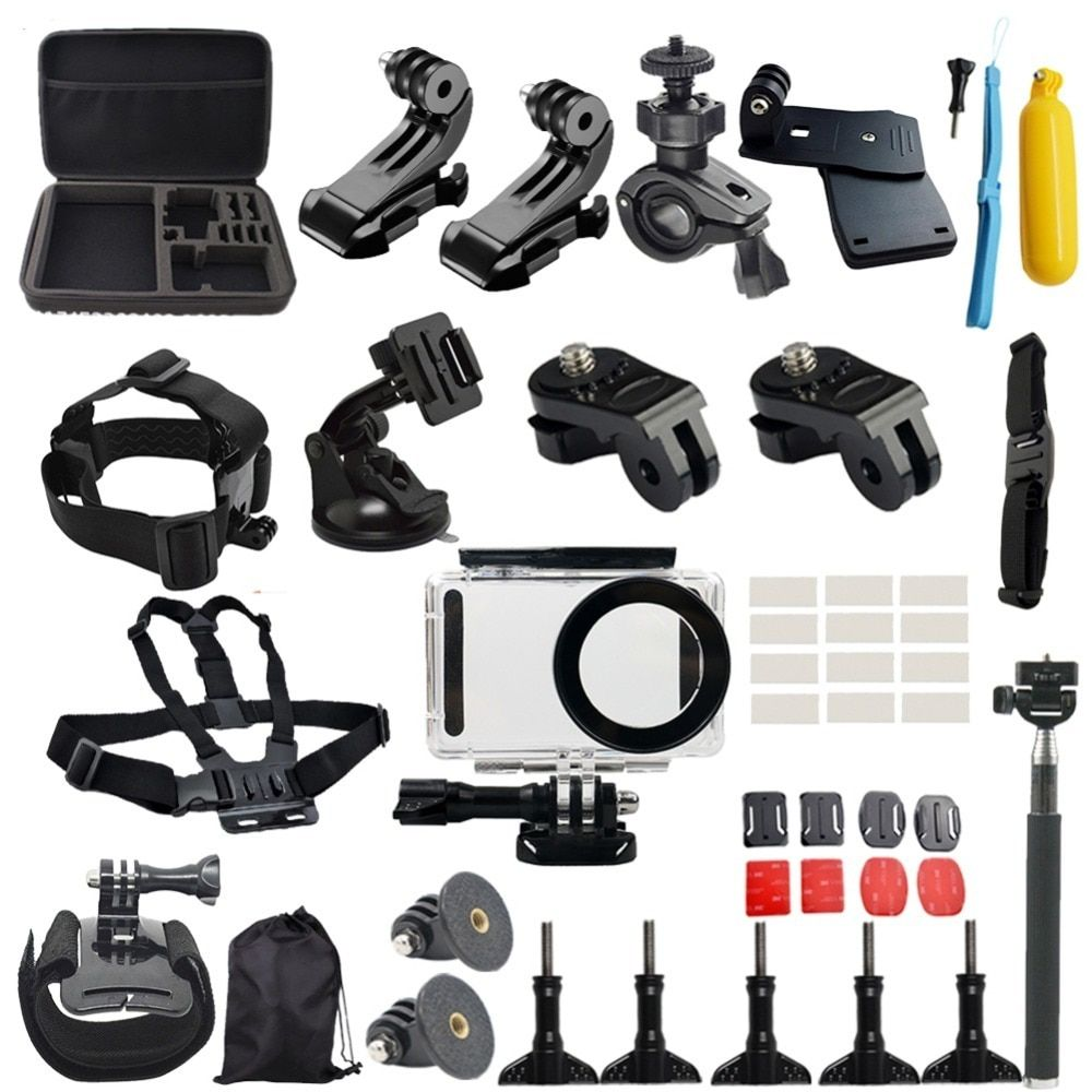 50pcs Camera Accessories Set for Xiaomi Mijia 4K Mini Camera Multi-in-1 Waterproof fitting for Diving/Climbing/Riding/Skiing/ect