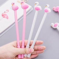 Милые красивые Фламинго Лебеди гель ручки, кавайные канцелярские принадлежности ручки материал Офис Школьные письменные принадлежности и...