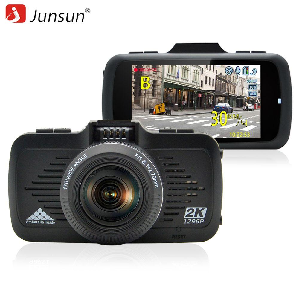 Junsun A799 Car DVR Camera GPS 2 in 1 Ambarella A7LA50 with Speedcam Super Full HD 1296P Dash Cam Video Recorder Blackbox