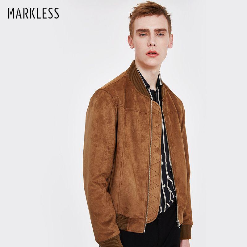Markless 2018 Bomber Jackets Men Plus Size M-3XL Fashion Casual Baseball Collar jaqueta masculina chaquetas hombre Coat JKA8101M