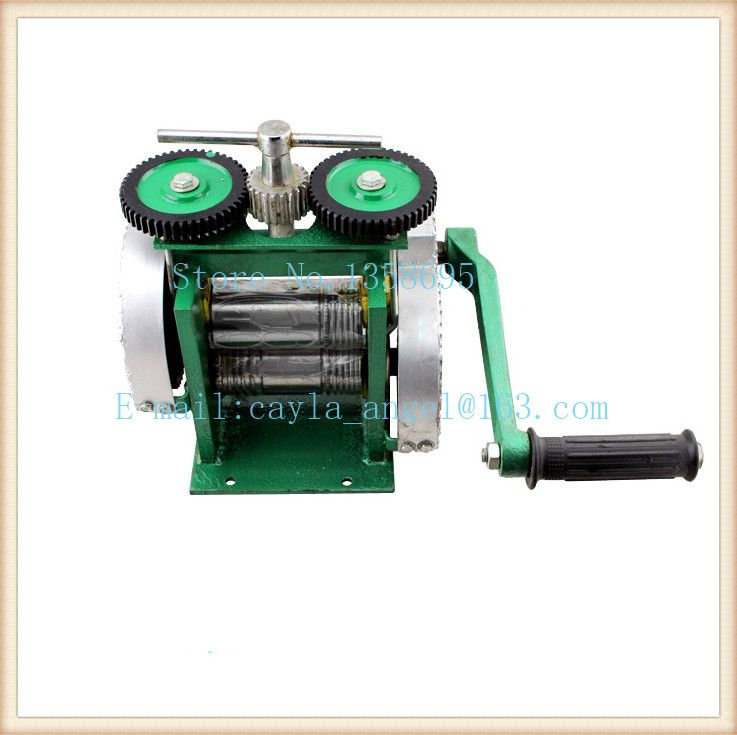 Hand Operate mini gold Rolling Mill , jewelry rolling mill with Maximum opening 0-5 mm, tablet press machine