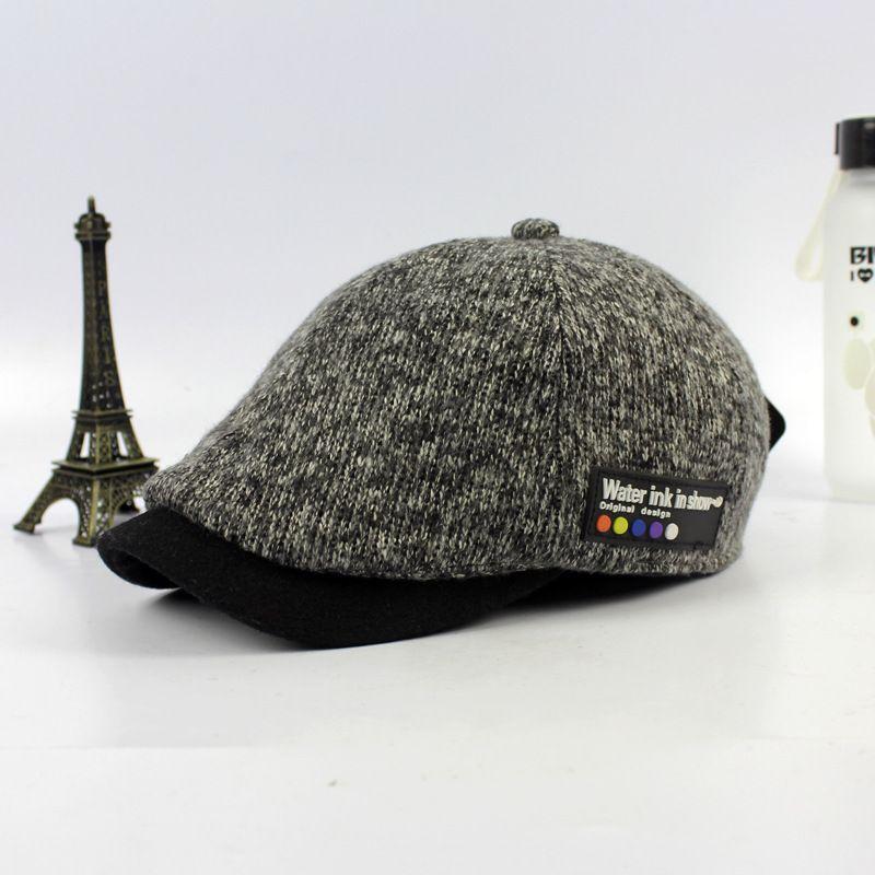 В на осень-зиму шерсть Берет утка язык шляпа оптовая продажа новые шляпы для мужчин дамы Винтаж шерсть бейсболка