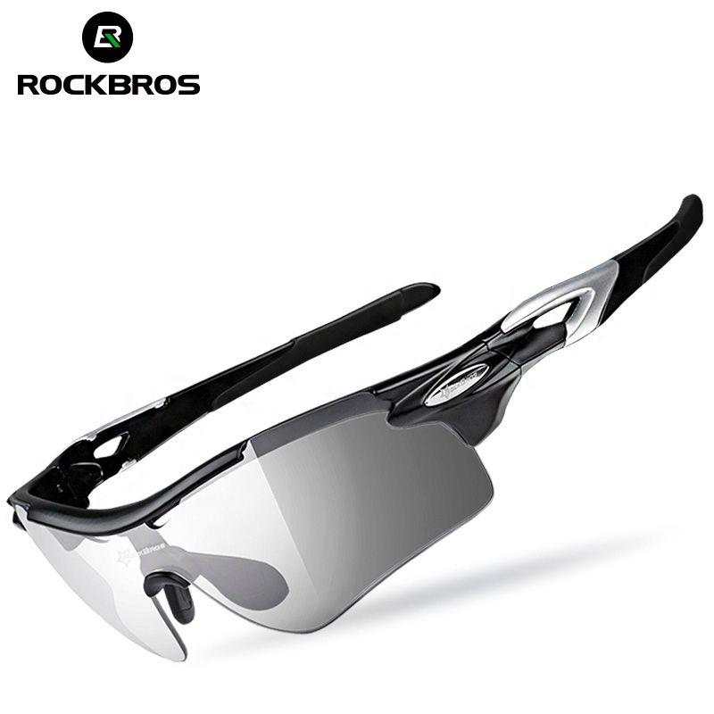 ROCKBROS 2 en 1 vélo lunettes de vélo polarisées photochromiques avec myopie cadre lunettes de soleil UV400 sport lunettes de vélo lunettes