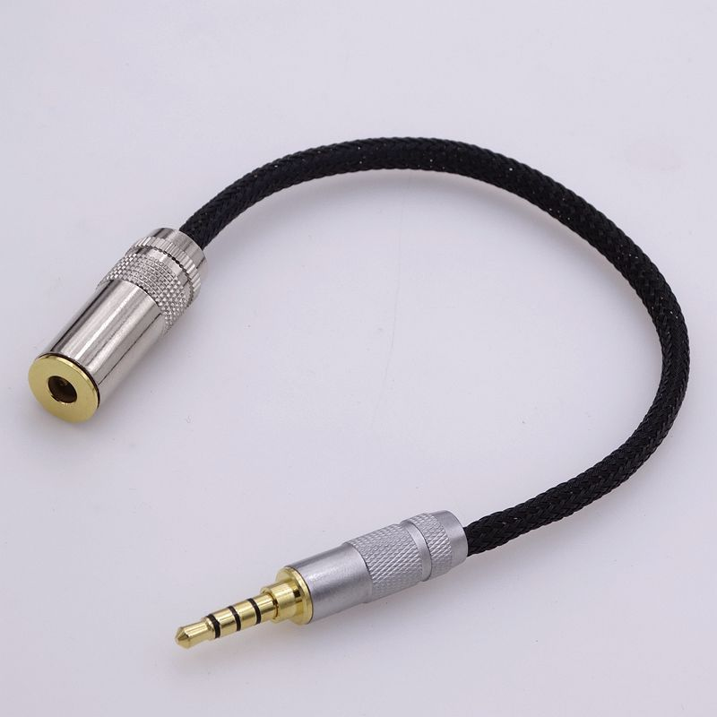 10cm hi-end 4 core copper wires 3.5mm TRRS to 4.4mm female audio adapter for sony headphone cable