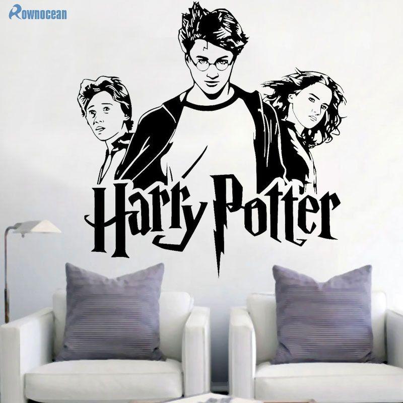 Potier Portrait mur autocollant Hermione Granger Ron Weasley mur Art autocollant décoration maison Art Mural pour enfants H-01