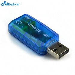 USB Sound Card External 5.1-Channel w/3.5mm Headphone and Microphone Jack Interface,Computer Stereo Mic Audio USB Converter