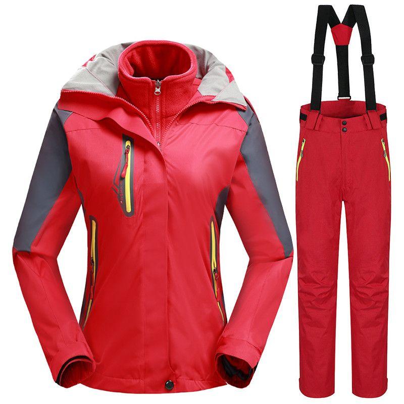 -30 Grad Winter Warme Ski Anzug für Frauen Wasserdichte 10 Karat Atmungs Snowboard Jacken + Hosen Weibliche Outdoor-Sport kleidung Set