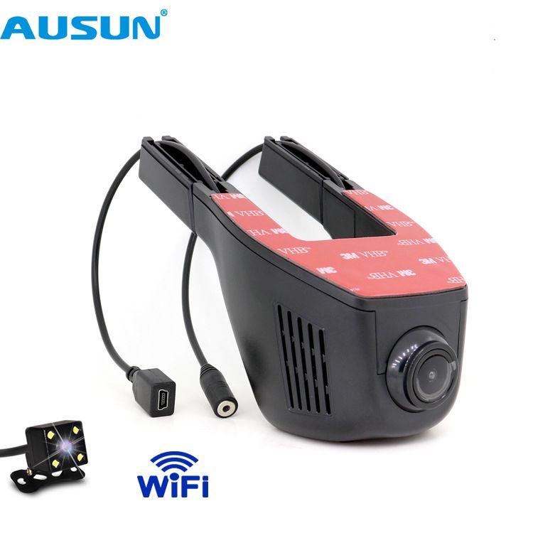 WIFI auto kameras Registrator Auto DVR Video Recorder Auto Dashcam Digital Loop video 1080 p Nacht Vision APP handy control