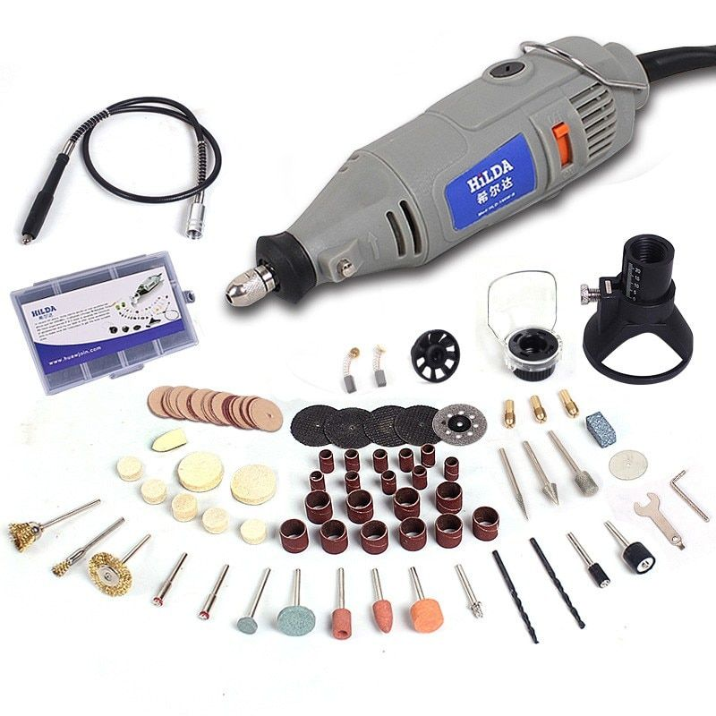 HILDA 220V 150W with 133pcs Accessories Electric Rotary Tool Variable <font><b>Speed</b></font> Mini Drill with Flexible Shaft Power Tools