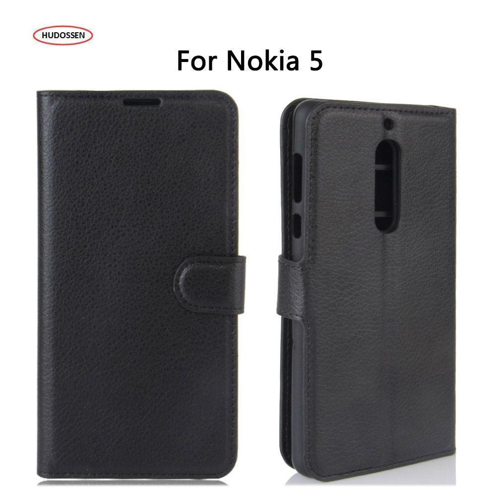 HUDOSSEN Luxury For Nokia 5 Case Protective Flip Cover PU Leather Case Fundas Carcasas For Nokia 5 Moible Phone Housing Coque