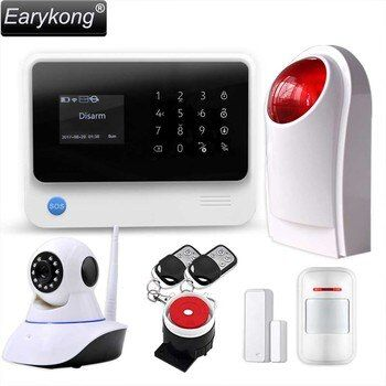 Original G90B WIFI gsm alarm system Touch Keyboard IOS Android APP 433MHz Home Burglar Wifi/GSM/GPRS/SMS Alarm System, Earykong