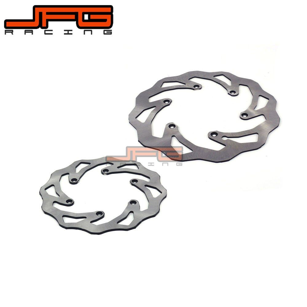 JFG WAVE WAVY REAR 220MM AND FRONT 260MM BRAKE DISCS BRAKE ROTORS FOR KTM SX SXF EXC SMR SMCR MOTORCYCLE