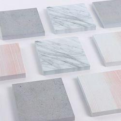 Mqstyle 1 Pack textura de piedra de mármol patrón cuadrado post it n Times Memo pad Notebook Student sticky School label regalo e0092