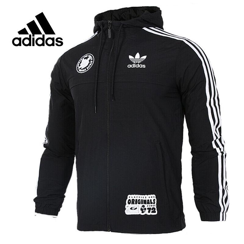 Original New Arrival Official Adidas Originals Badge Windbreak Men's jacket Hooded Sportswear