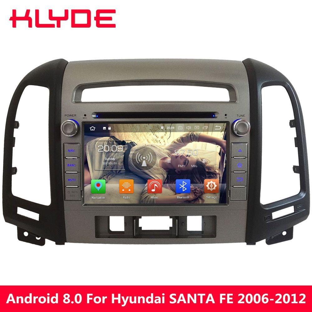 KLYDE Android 8.0 7.1 6.0 4GB RAM 32GB ROM Octa Core 4G Car DVD Multimedia Radio Player For Hyundai SANTA FE 3 Hole 2006-2012