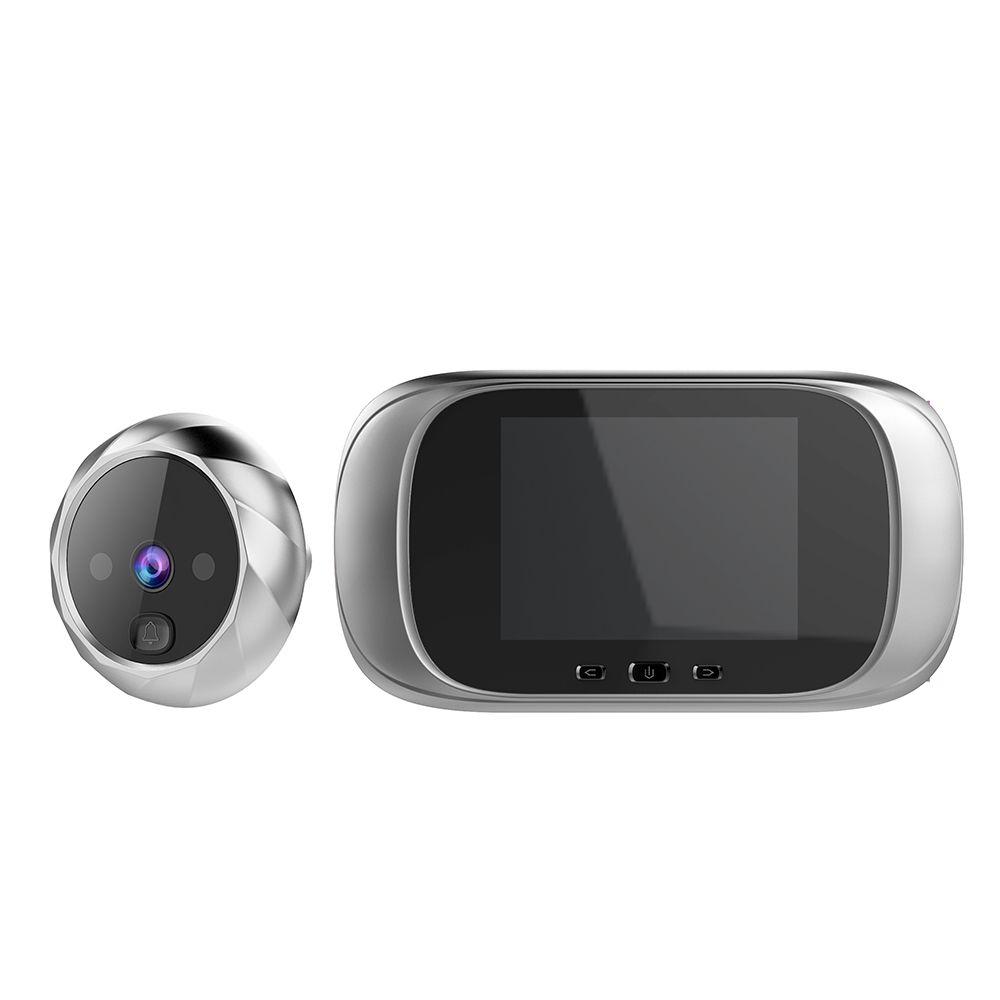 2.8 pouces LCD couleur écran numérique sonnette 90 degrés porte oeil sonnette électronique judas porte caméra visionneuse extérieure porte cloche