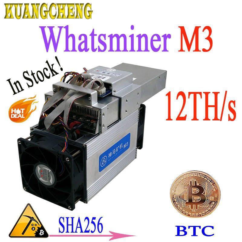 24 stunden lieferung! Asic miner WhatsMiner m3 M3X + NETZTEIL 12-13TH/S 1,8-2.1kw BTC bergbau Besser als WhatsMiner M3 T9 v9