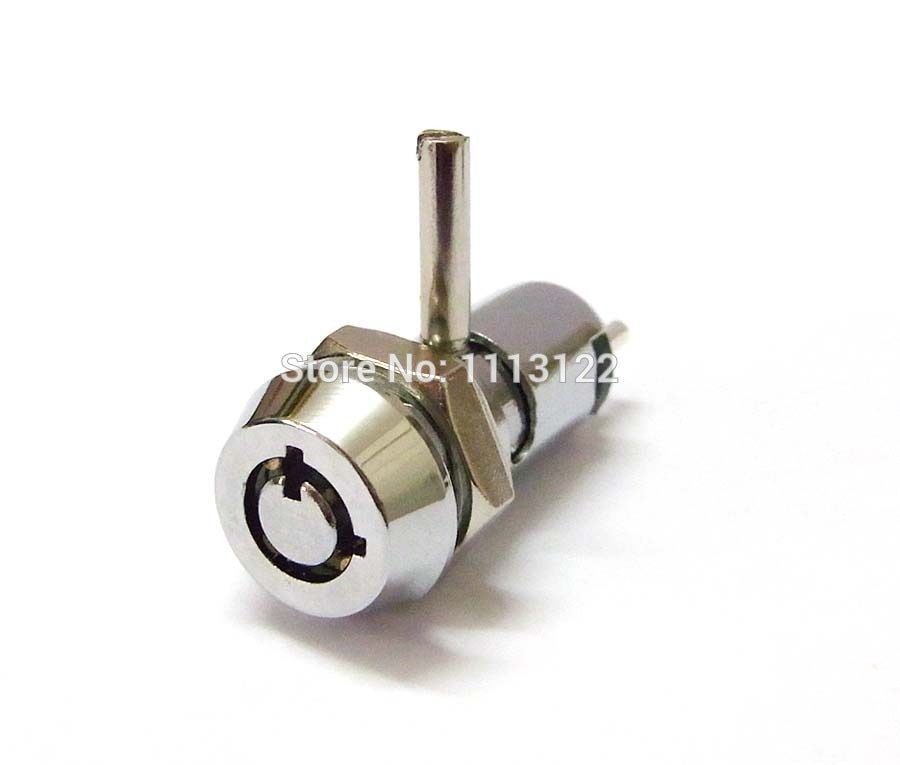 High Quality 4 Pins 12MM Brass Key Switch Lock with cam mini Dual Functioned Electronic Switch cam Lock for Car-DVD  1pc