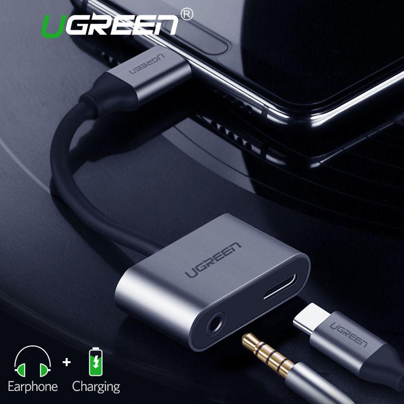 Ugreen USB C zu Jack 3,5 Typ C Kabel Adapter Für Huawei P20 Pro Xiao mi mi 6 8 Note3 mi x USB Typ C 3,5mm AUX Kopfhörer Converter