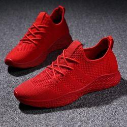 BomKinta Nouvelle Annonce Hommes Casual Chaussures Fly Tissage Chaussures Hommes Printemps Automne Tenis Sneakers Extérieure Chaussures Pour Hommes