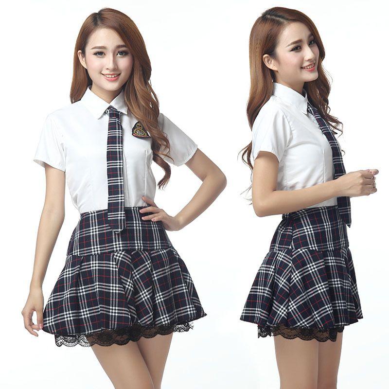Caliente Japonés/Coreano Uniformes Escolares Niña Marinero Lindo Tops Falda Conjunto Completo Algodón JK Estudiante Cosplay Ropa