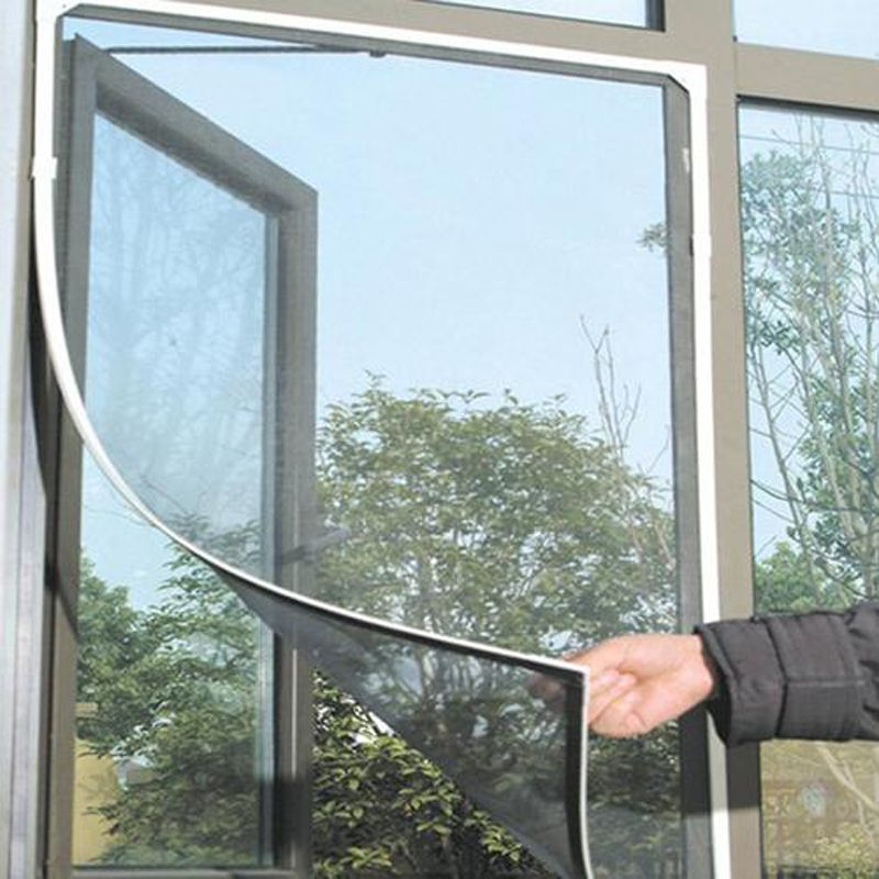 Window Nets Screens Insect Fly Mosquito DIY Home Door Window Screen Netting Mesh Screen Sticky Tape Door Prevent