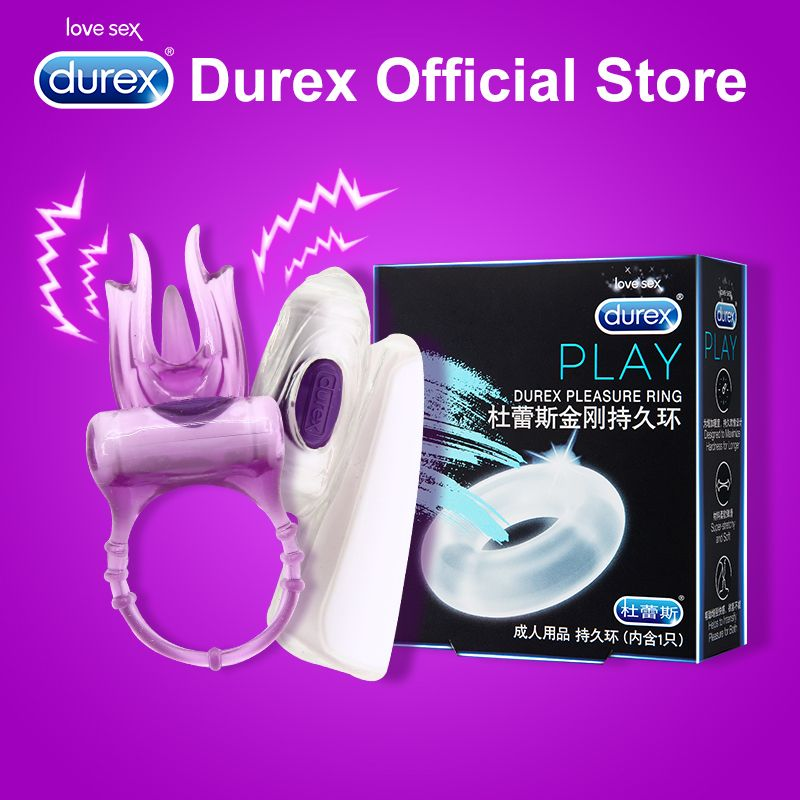 Durex Vibrator Ring Enlargement Extender Clitoris Stimulation Sex Products Intimate Goods Erotic Adult Sex Toys for Couple Sex